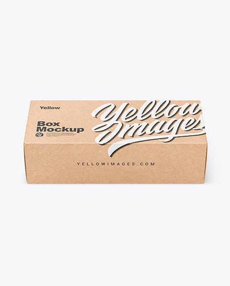 Kraft Box Mockup