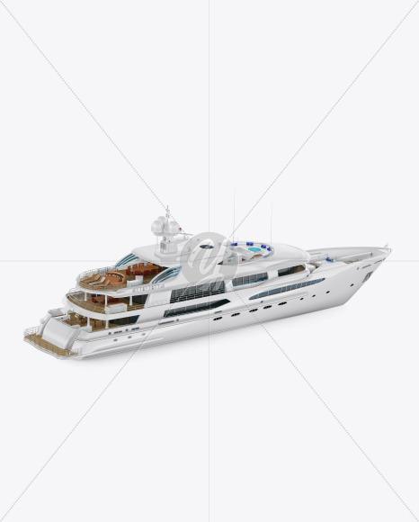 Yacht Mockup - Back Half Side View - Yellowimages Mockups