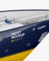 Yacht Mockup - Back Half Side View