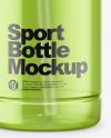 Opened Sport Bottle Mockup