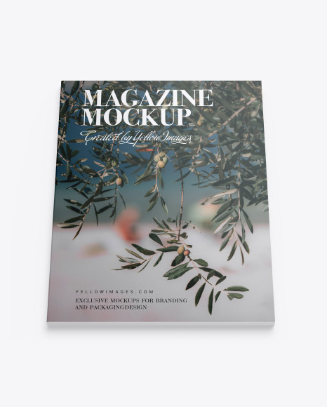 Download Matte Magazine Mockup In Stationery Mockups On Yellow Images Object Mockups PSD Mockup Templates