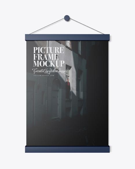 Matte Picture Frame Mockup