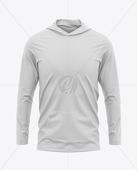 Men's Lightweight Hoodie T-Shirt - Front View