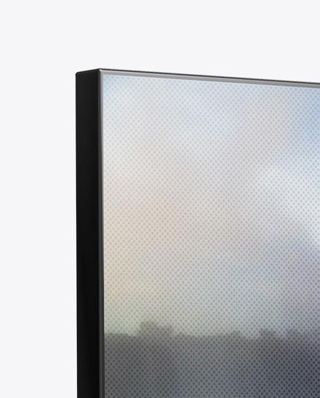 Portable Video Wall Mockup - Half Side View