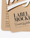 Two Kraft Labels Mockup