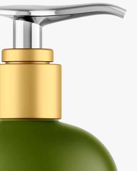 Matte Shower Gel Bottle with Pump Mockup