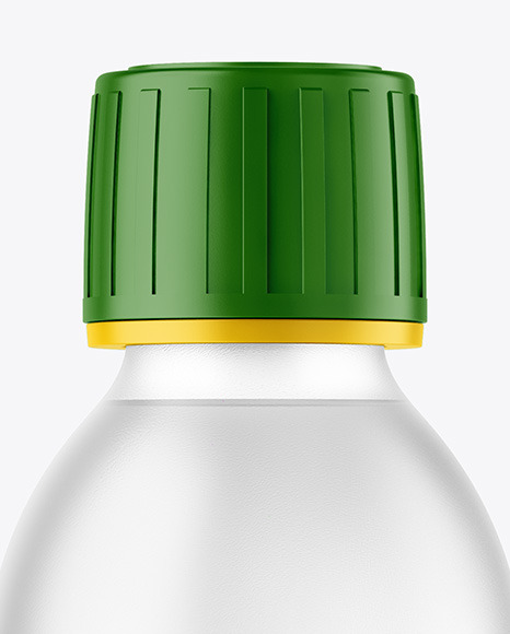 Frosted Clear Plastic Bottle Mockup