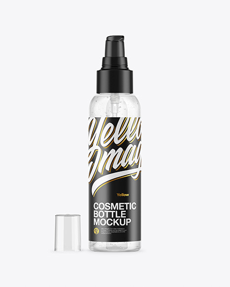 Download Clear Cosmetic Bottle with Gel PSD Mockup