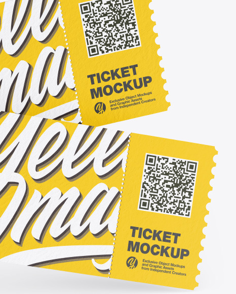 Two Textured Tickets Mockup