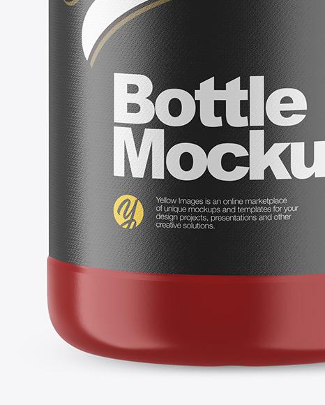 1L Matte Plastic Bottle Mockup