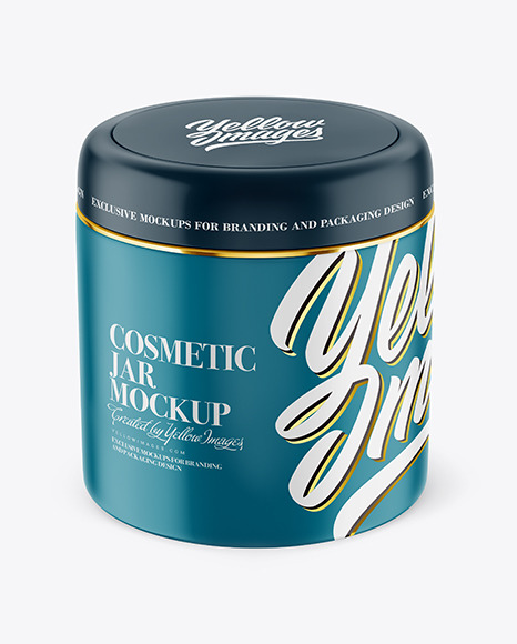 Download Matte Plastic Cosmetic Jar PSD Mockup