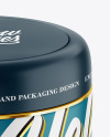 Matte Plastic Cosmetic Jar Mockup