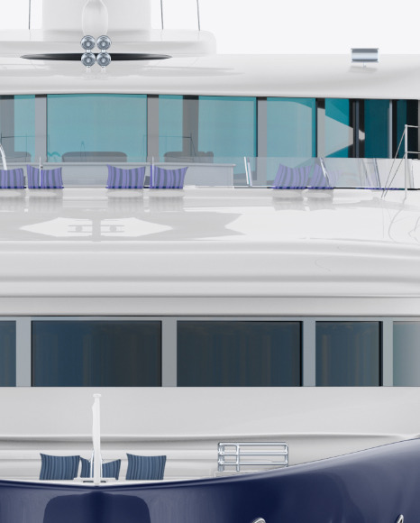 Yacht Mockup - Front View