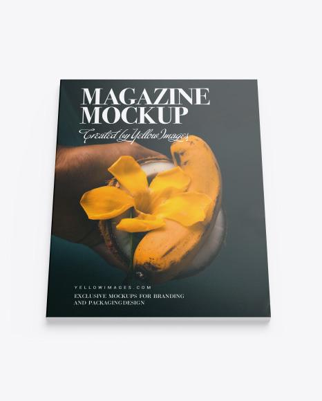 Download Textured Magazine PSD Mockup