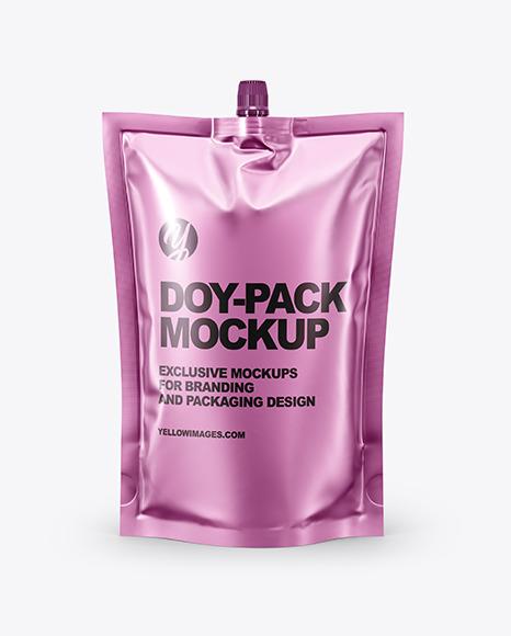 Download Matte Metallic DoyPack PSD Mockup