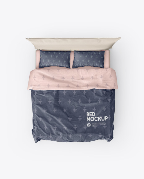 Download Double Bed PSD Mockup