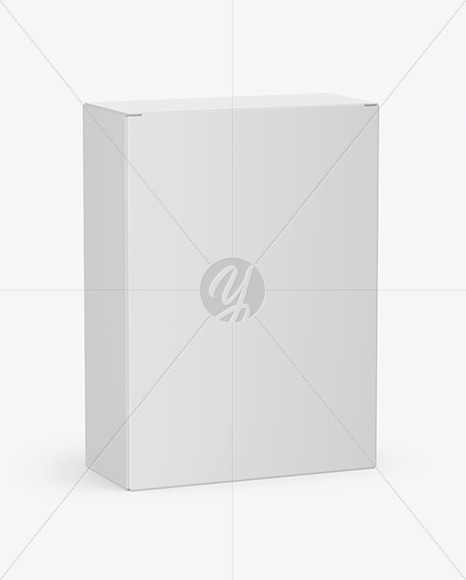 Open Tablet Blisters Paper Box Mockup Half Side View