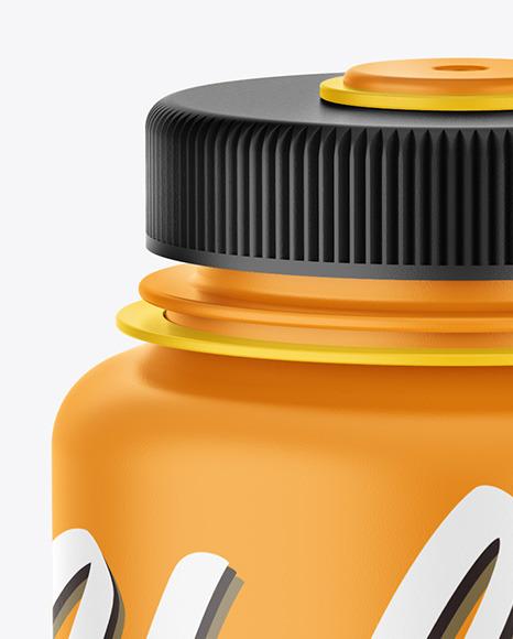 Matte Water Bottle Mockup
