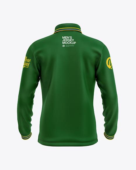 Download Mens Long Sleeve Polo Shirt PSD Mockup