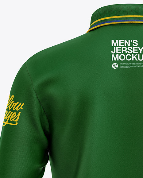 Men's Long Sleeve Polo Shirt Mockup