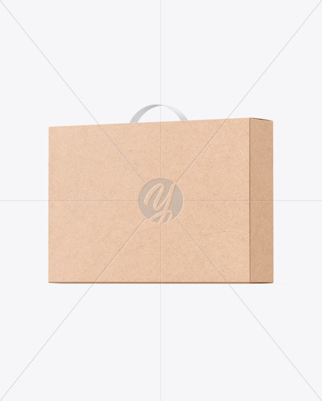 Kraft Box With Handle Mockup