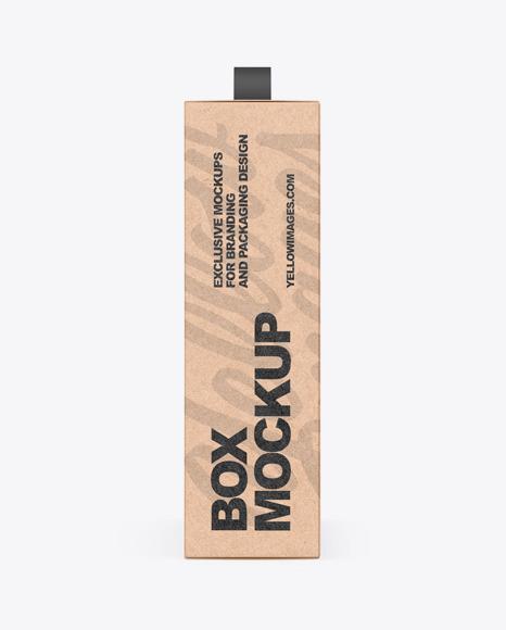 Download Kraft Box With Handle PSD Mockup