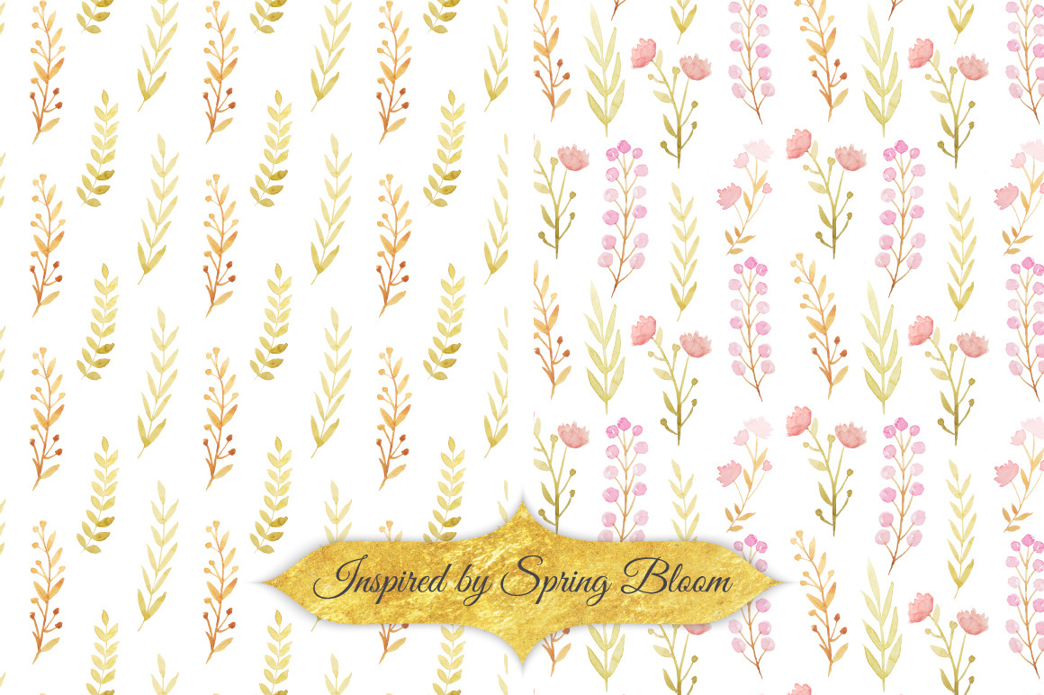 Watercolor Floral Patterns vol.1