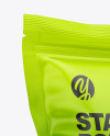 Matte Stand Up Pouch Bag Mockup