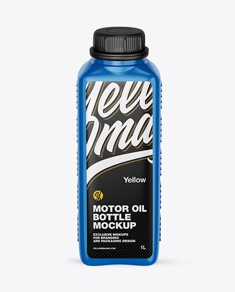 Download Glossy Motor Oil Bottle PSD Mockup