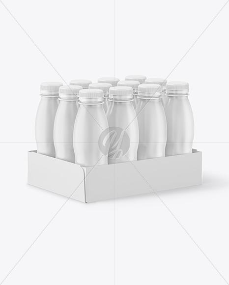 12 Pack Plastic Bottles Mockup