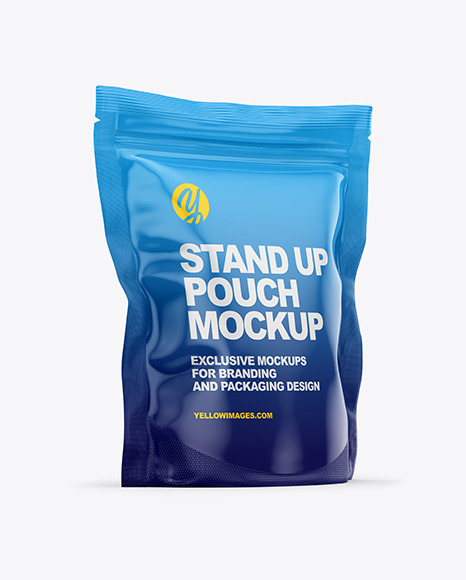 Download Glossy Stand Up Pouch Bag PSD Mockup