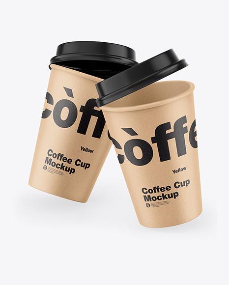 Download Kraft Coffee Cup PSD Mockup