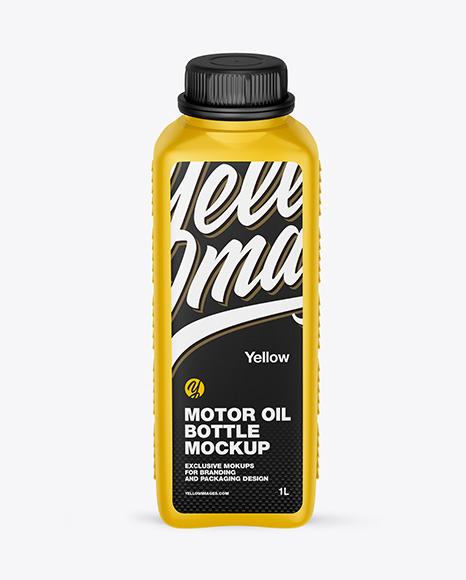 Download Matte Motor Oil Bottle PSD Mockup
