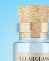Empty Clear Glass Medical Bottle Mockup