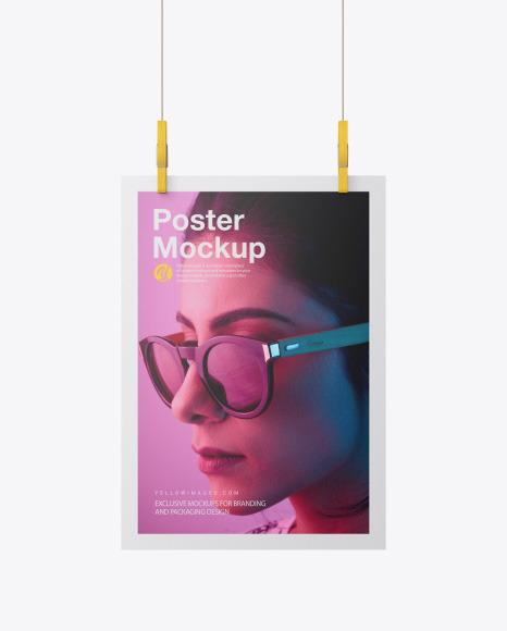 Download Matte A4 Poster PSD Mockup