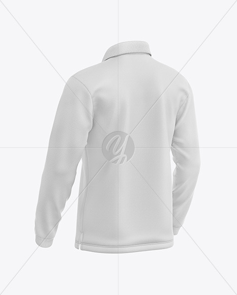 Men's Long Sleeve Polo Shirt Mockup