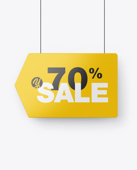 Glossy Discount Sign Mockup