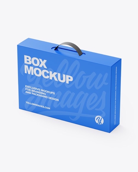 Download Paper Box With Handle PSD Mockup