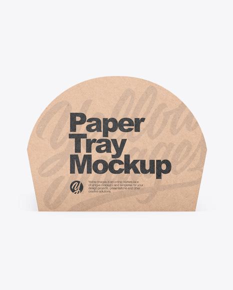 Kraft Tray Mockup