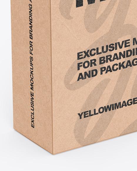 Kraft Box With Handle Mockup