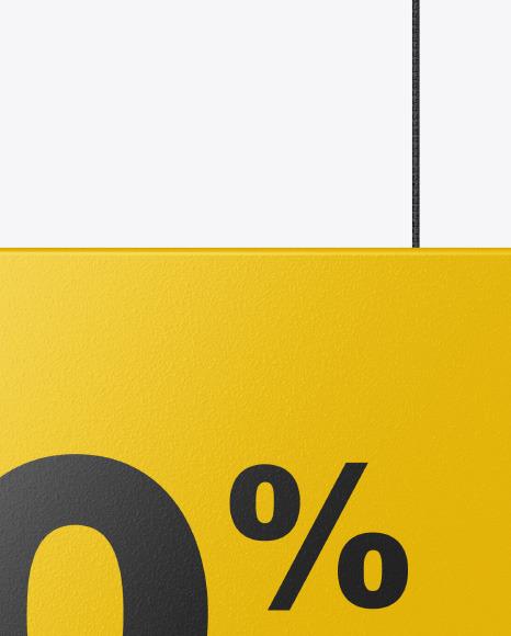 Glossy Discount Sign Mockup