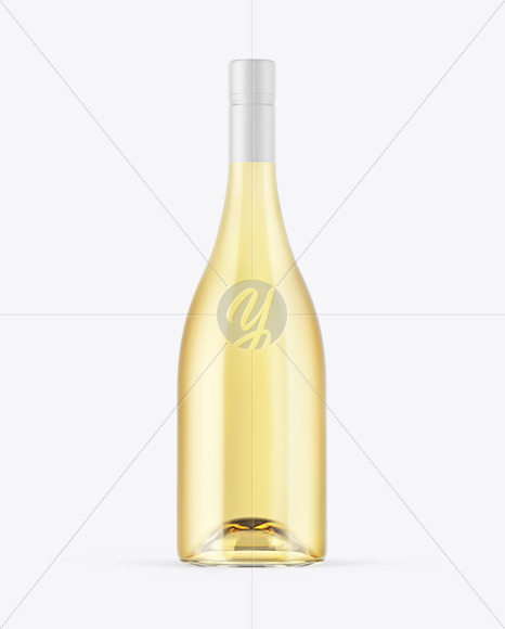 15l Green Glass Bottle With White Wine Mockup
