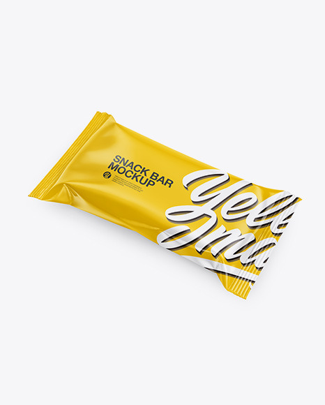 Download Glossy Snack Bar PSD Mockup