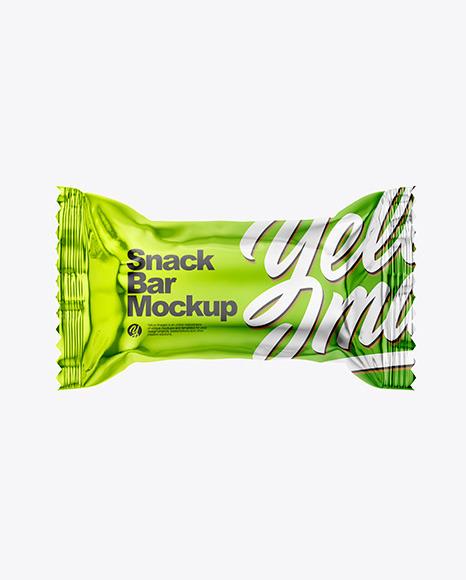 Download Metallic Snack Bar PSD Mockup