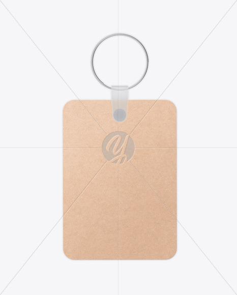 Keychain Kraft Card Mockup