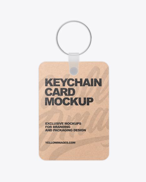 Download Keychain Kraft Card PSD Mockup