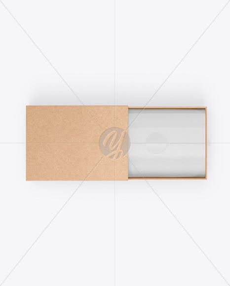 Opened Gift Kraft Box Mockup