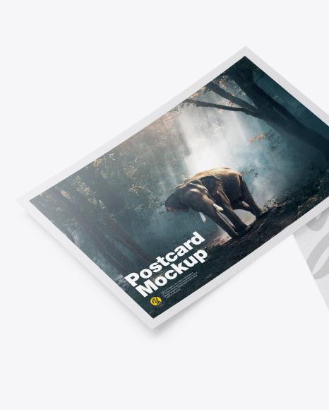 Texured A5 Postcard Mockup