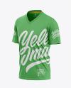 Men's V-Neck T-Shirt Mockup - Front Half-Side View