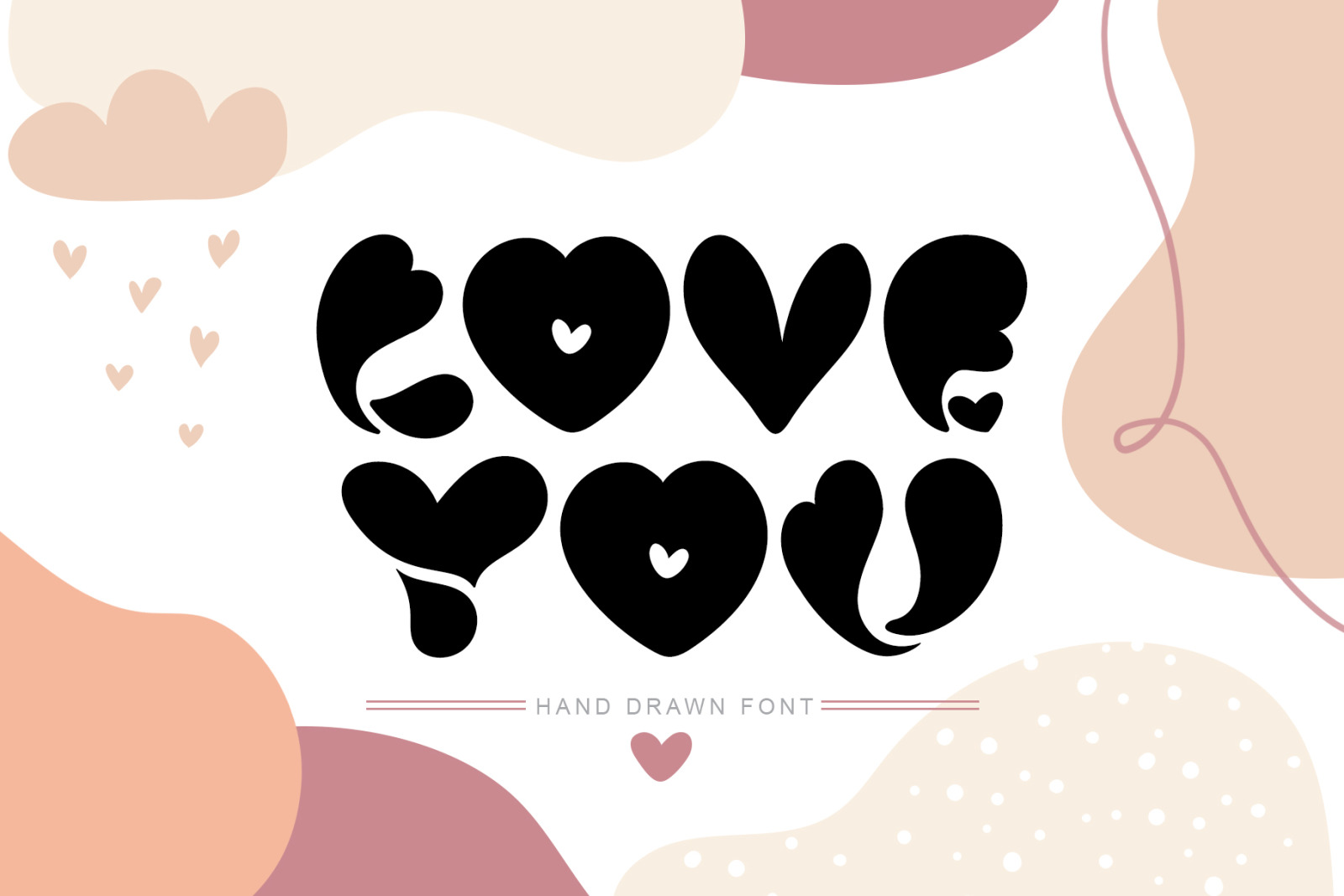 Love You Hand Drawn Valentine Font